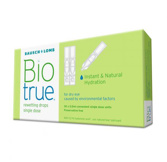 BIOTRUE EYE DROPS 30 single dose units ΟΦΘΑΛΜΙΚΕΣ ΣΤΑΓΟΝΕΣ BAUSCH & LOMB (30 x 0.5 ML)