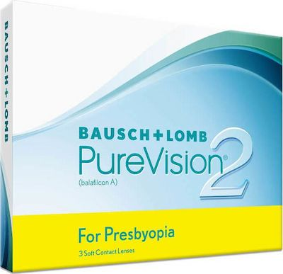 PUREVISION2 FOR PRESBYOPIA 3 PACK ΜΗΝΙΑΙΟΙ ΠΟΛΕΣΤΙΑΚΟΙ ΦΑΚΟΙ ΕΠΑΦΗΣ BAUSCH & LOMB