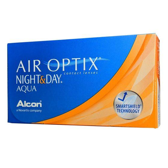 AIR OPTIX NIGHT & DAY AQUA 6 PACK ΜΗΝΙΑΙΟΙ ΦΑΚΟΙ ΕΠΑΦΗΣ ΜΥΩΠΙΑΣ - ΥΠΕΡΜΕΤΡΩΠΙΑΣ